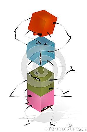 Funny Toy Blocks Pyramid