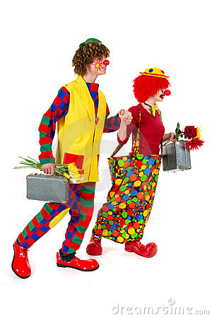 Funny traveling clowns