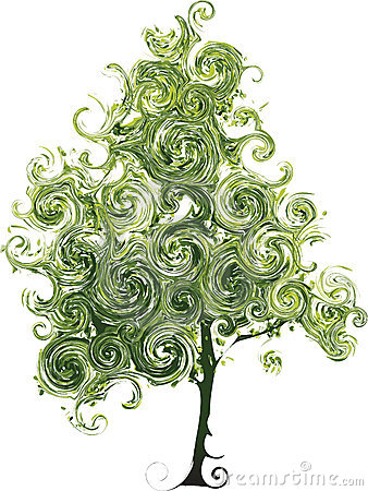 Funny tree with curls