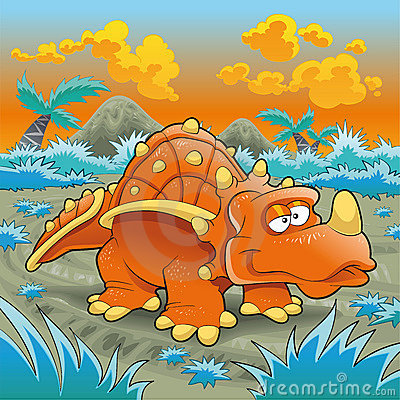 Free Funny Triceratops Royalty Free Stock Photos - 7700068