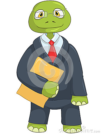 Funny Turtle. Businessman