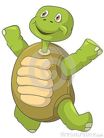 Funny Turtle. Jumping.