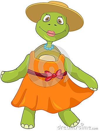 Funny Turtle. Wife Dancing