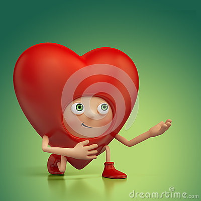 Funny Valentine heart cartoon roposal