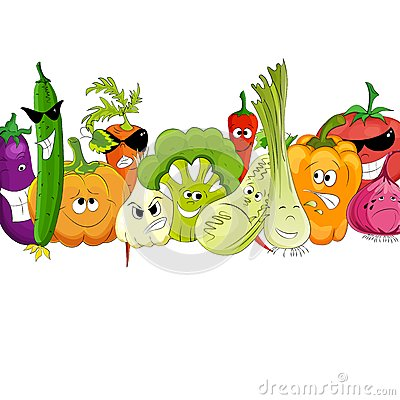 Free Funny Vegetable And Spice Cartoon On White Stock Images - 31918454