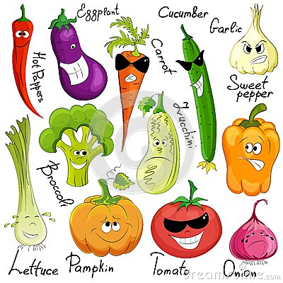 Free Funny Vegetable Cartoon Isolated Stock Images - 31901444