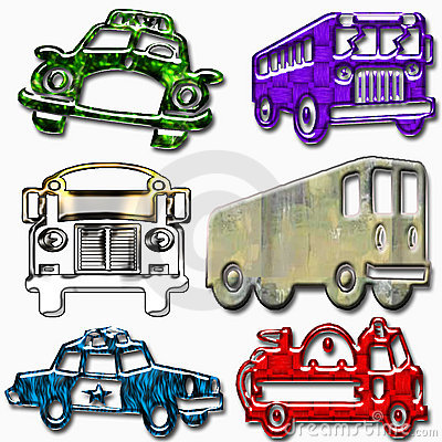 Funny vehicle icons