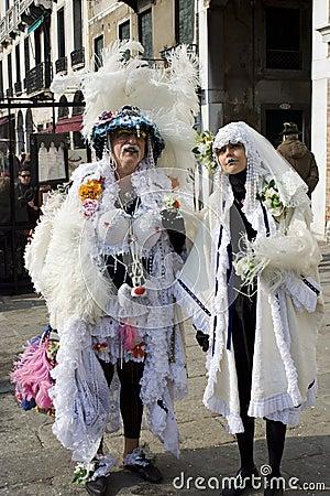 Funny Venice costume Editorial Stock Image