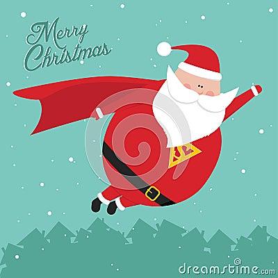 Funny vintage christmas SantaMan postcard