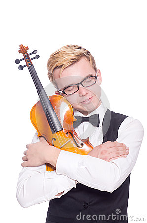 Funny violin player