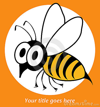 Free Funny Wasp Or Bee Design. Royalty Free Stock Photo - 16796395