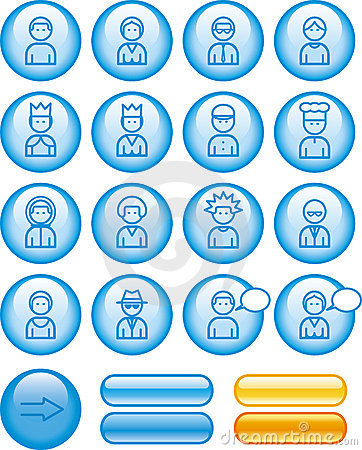 Funny Web Icons Set – People (Vector)