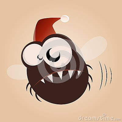 Funny xmas cartoon fly