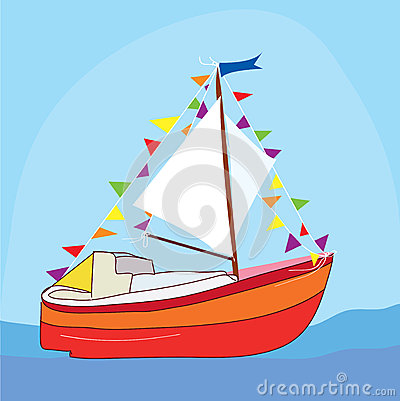 Free Funny Yacht At The Sea Stock Image - 31741151