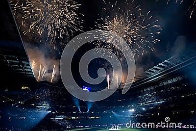 Fuochi d artificio Immagine Editoriale