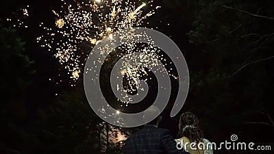 Fuochi d'artificio per la notte di nozze video d archivio
