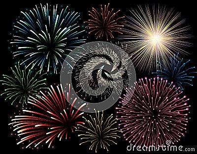 Fuoco d artificio di festa