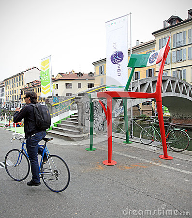 Fuorisalone at Navigli Design District Editorial Stock Image
