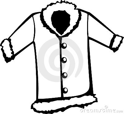 Fur coat vector illustration