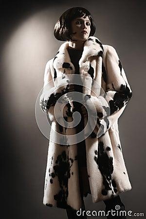 Fur coat winter clothes fashion