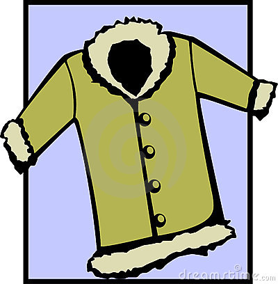 fur coat or winter jacket. Vector file available
