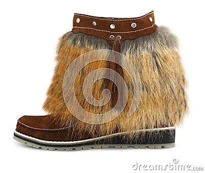 Fur shoe