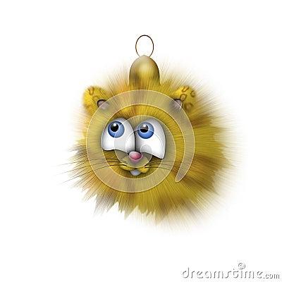 Fur-tree toy - a small tiger