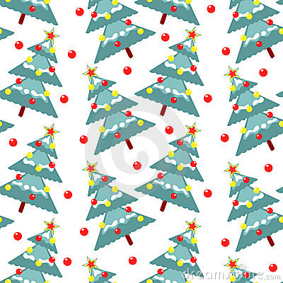 Fur-trees seamless pattern
