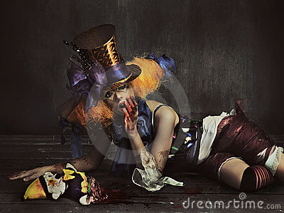 Furchtsamer Monsterclown Stockfotografie - Bild: 16990902