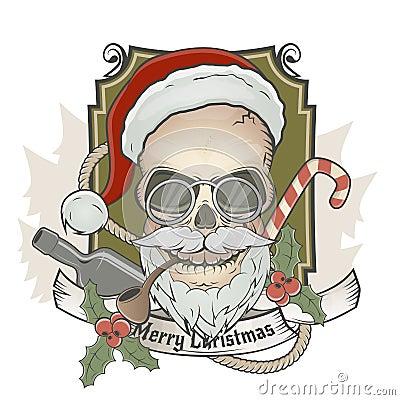 Furchtsamer Weihnachtsmann-Schädel