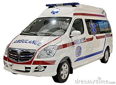 Furgone dell ambulanza isolato