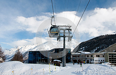 Furi ski station in Zermatt ski resort Editorial Stock Image