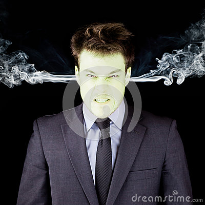 Free Furious Businessman Getting Green Face Royalty Free Stock Images - 30510939