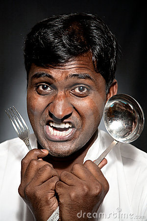 Furious Indian cook