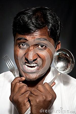 Furious Indian cook