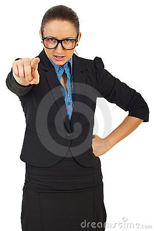 Furious manager woman accuse you
