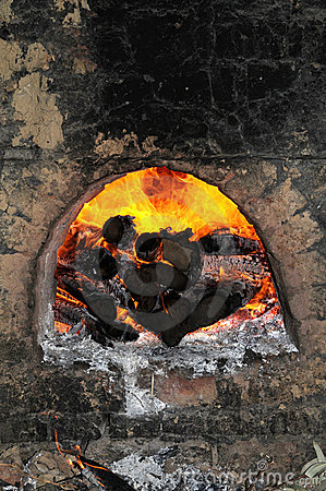 Furnace With Firewood Burning