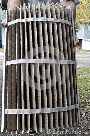 Furnace heater air filter