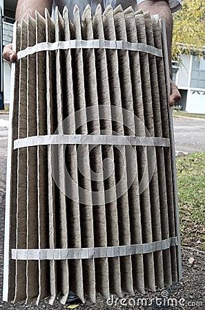 Furnace heater air filter