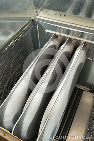 Furnace Heating, Heat Exchanger Unit Closeup