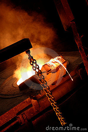 Free Furnace In Metallurgical Plant Royalty Free Stock Images - 18270779