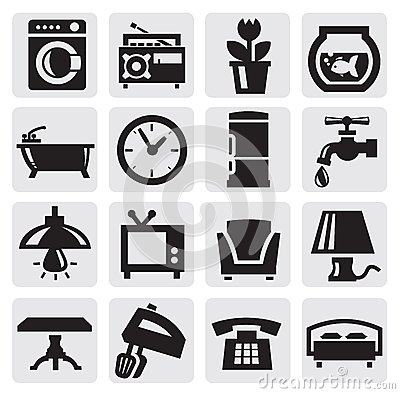 Free Furniture And Home Icons Royalty Free Stock Image - 26999076