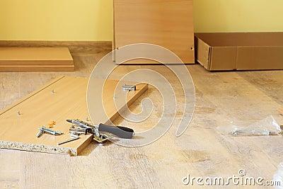 Furniture assembling kit