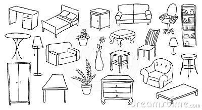 Furniture and decoration set