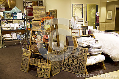 furniture home decor department store editorial stock photo - Seattle Home Decor