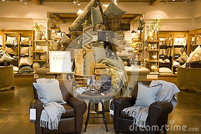 furniture home decor store editorial stock photo image