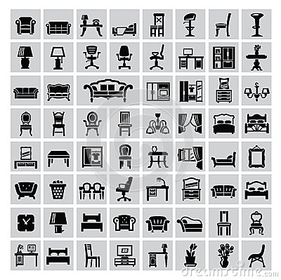 Free Furniture Icon Stock Photo - 34069040