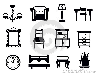 House With Furniture Clip Art