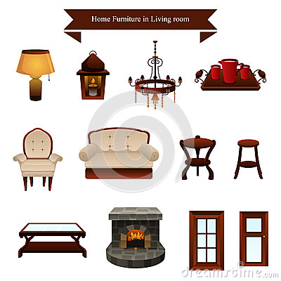 Furniture icons stock images image 34144324 for Abanos furniture industries decoration llc