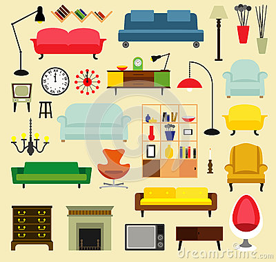 Furniture Ideas For Living Room Cartoon Vector CartoonDealercom 55798677